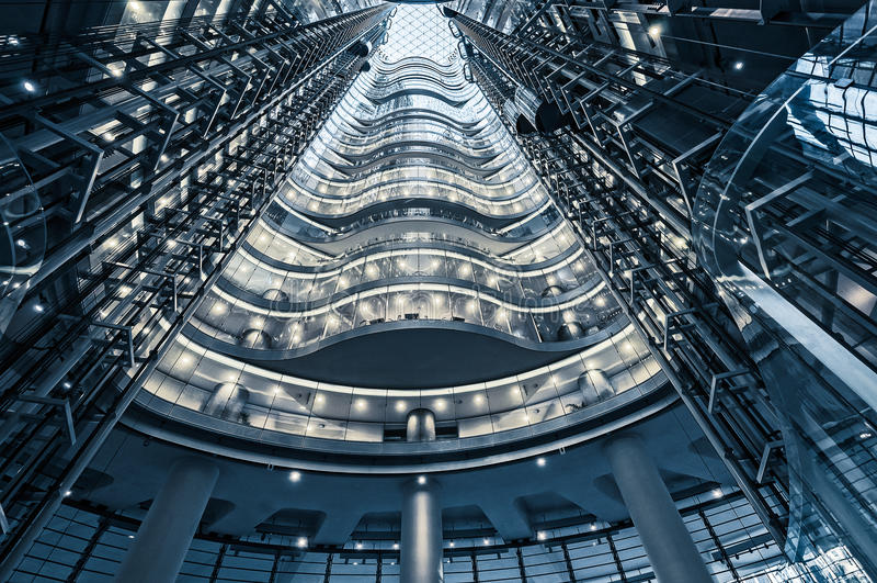 Atrio a un edificio de oficinas de gran altura superior en Sydney foto de archivo