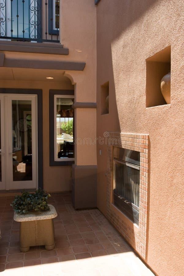 Download Atrium stock image. Image of patio, spanish, decor, fireplace - 2733855