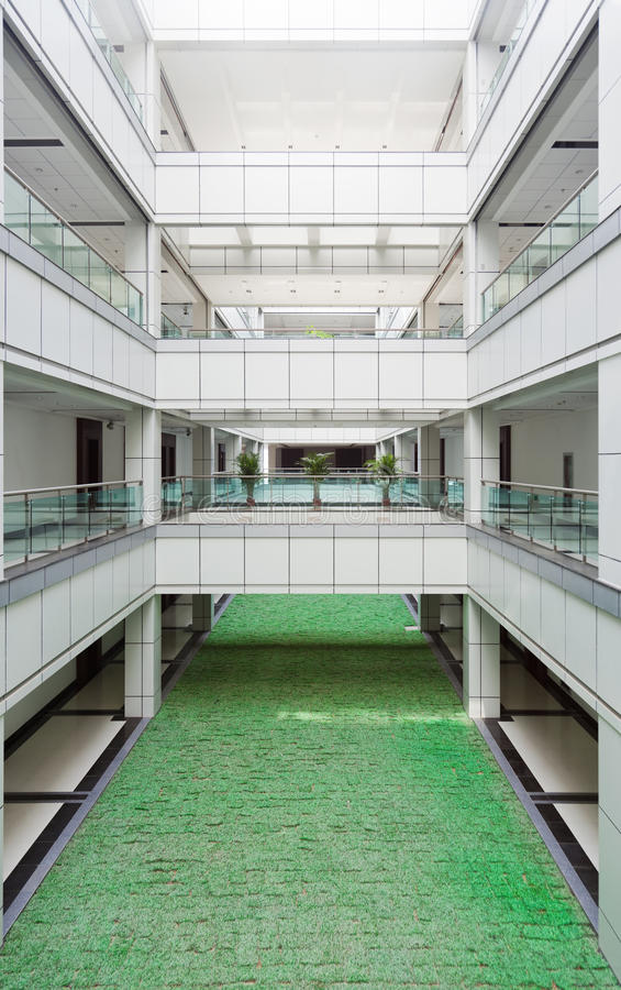 Download Atrium In An Office Building Stock Image - Image of grass, contemporary: 15014067