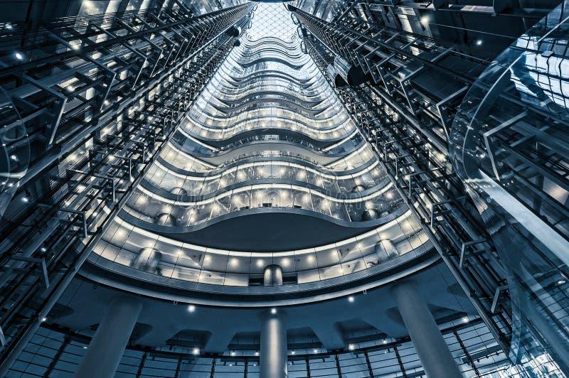 Atrium to a premium high-rise office building in Sydney stock photo