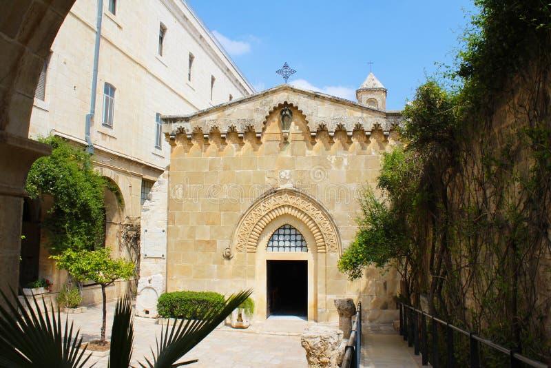 Atrium van de Kerk van Veroordeling, via Doĺororosa, Jeruzalem, Oude Stad, Israël, bedevaart stock afbeeldingen