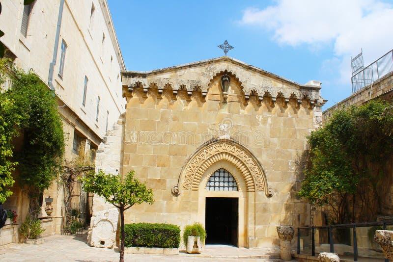 Atrium van de Kerk van Veroordeling, via Doĺororosa, Jeruzalem, Oude Stad, Israël, bedevaart stock afbeelding