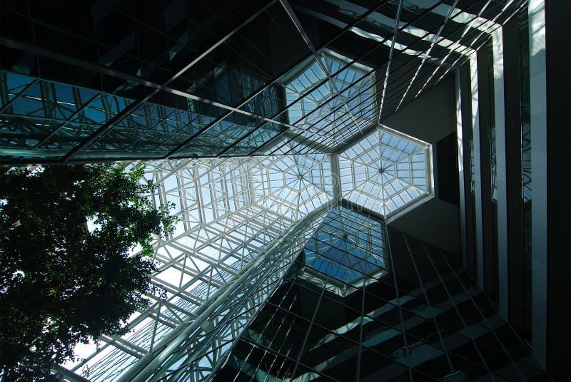 atriumexponeringsglas arkivfoto