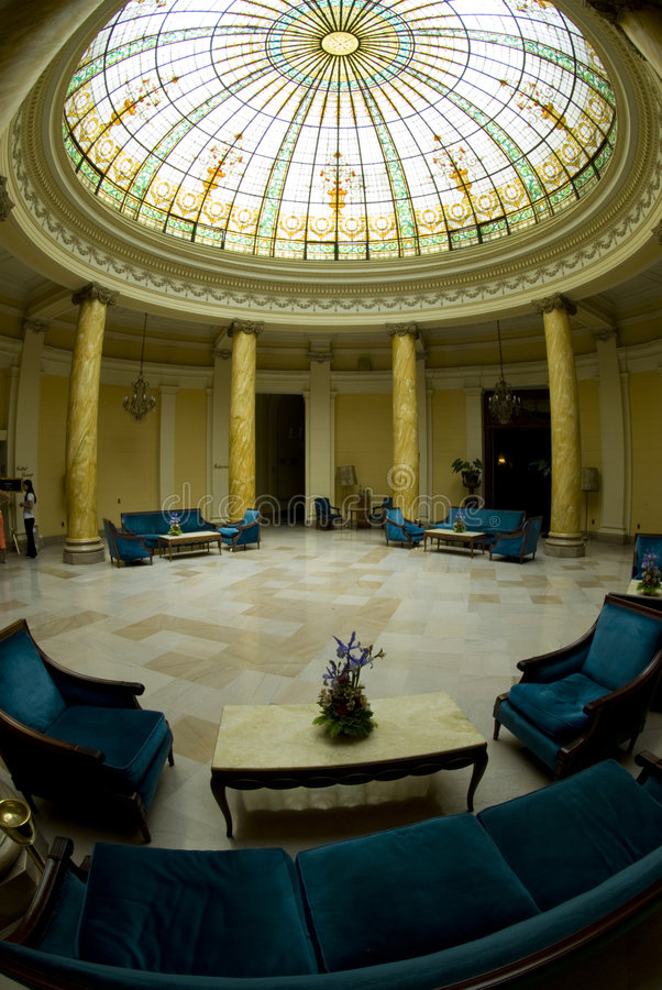 atriumhotelllima lobby peru arkivbilder