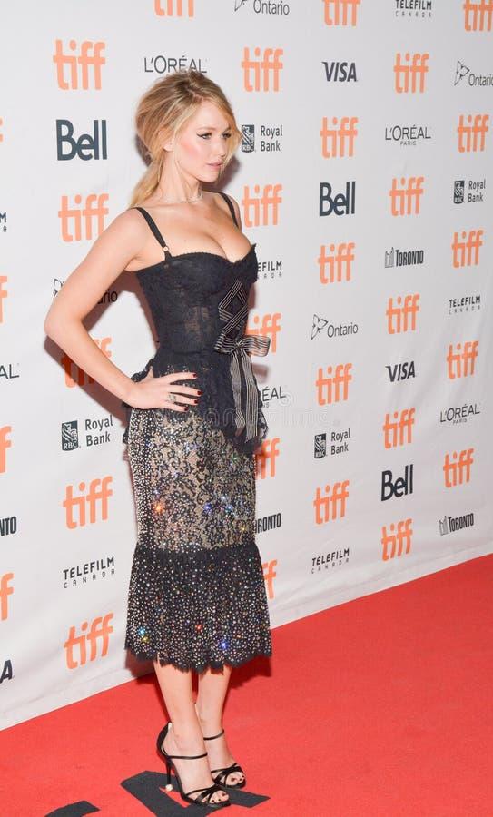 Atriz Jennifer Lawrenc na mãe do `! premier do ` durante o festival de cinema 2017 internacional de Toronto na princesa do teatro imagem de stock