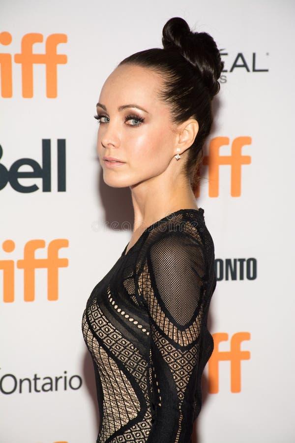 Atriz Ksenia Solo na mãe do `! premier do ` durante TIFF17 imagens de stock royalty free