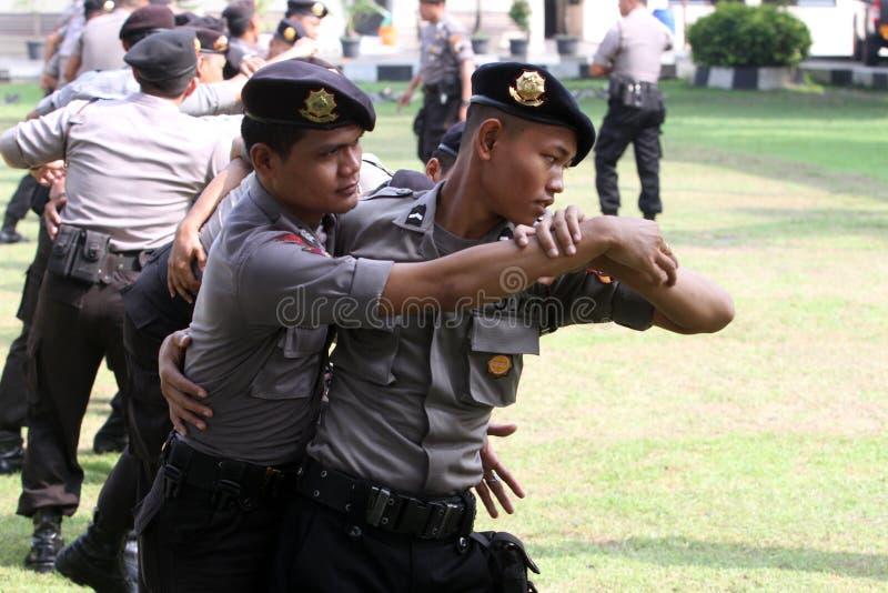 Atrs marciales de la policía fotografía de archivo