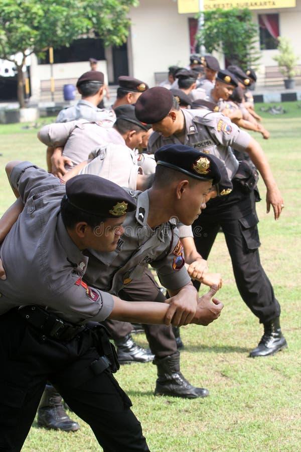 Atrs marciales de la policía imagenes de archivo
