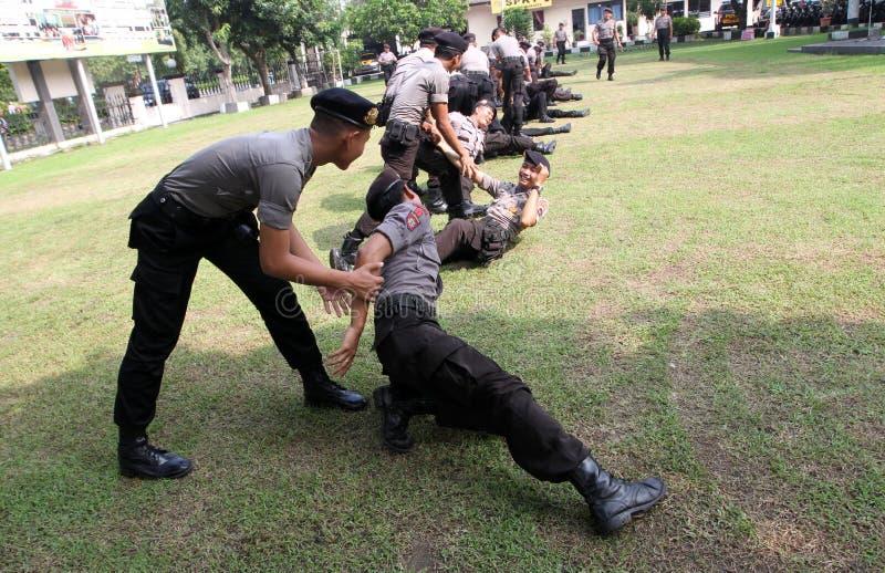Atrs marciales de la policía imagen de archivo