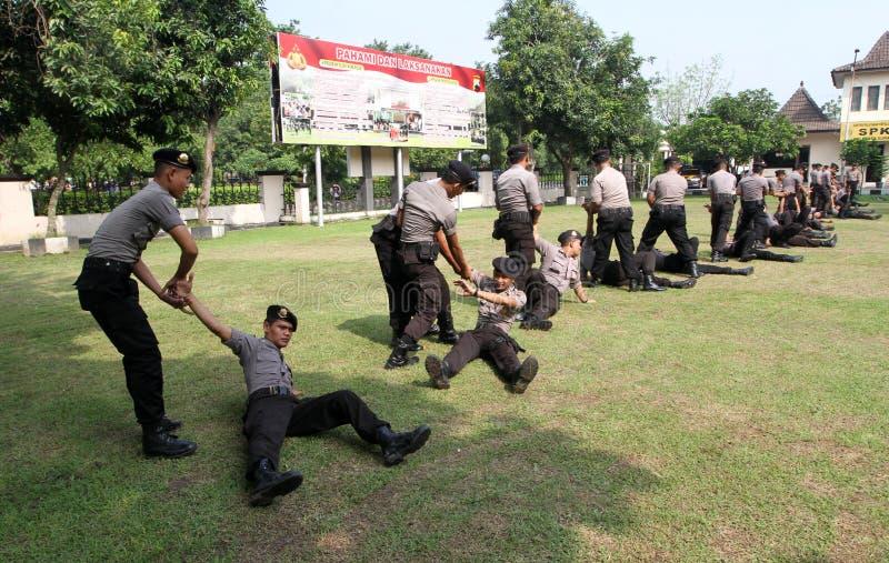 Atrs marciales de la policía imágenes de archivo libres de regalías