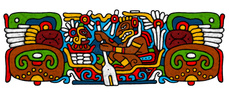 AtrWork Mayan illustrazione vettoriale