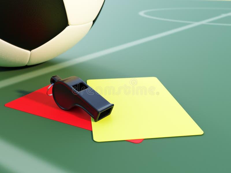 Atrybuty refereeing obrazy royalty free