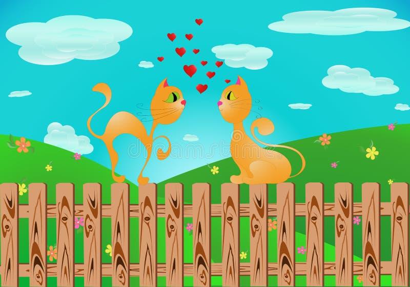 ATS Ð die ¡ in liefde vallen (Vector) vector illustratie