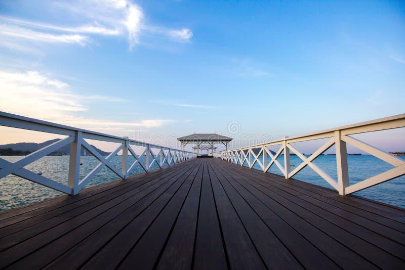 Atsadang木桥 免版税图库摄影