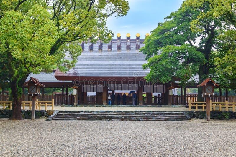 Atsuta-jingu (святыня Atsuta) в Нагое, Японии стоковая фотография