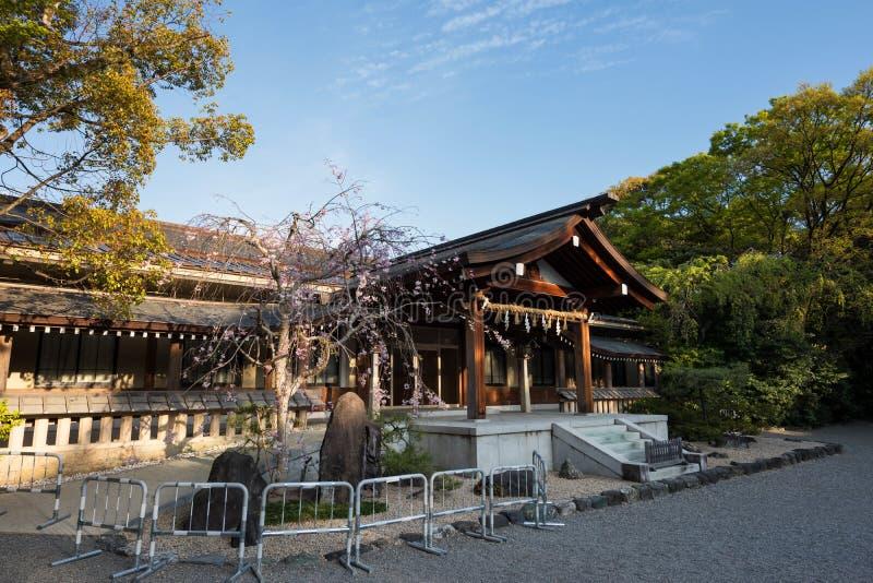 Atsuta Jingu shrine with sakura, Nagoya stock image