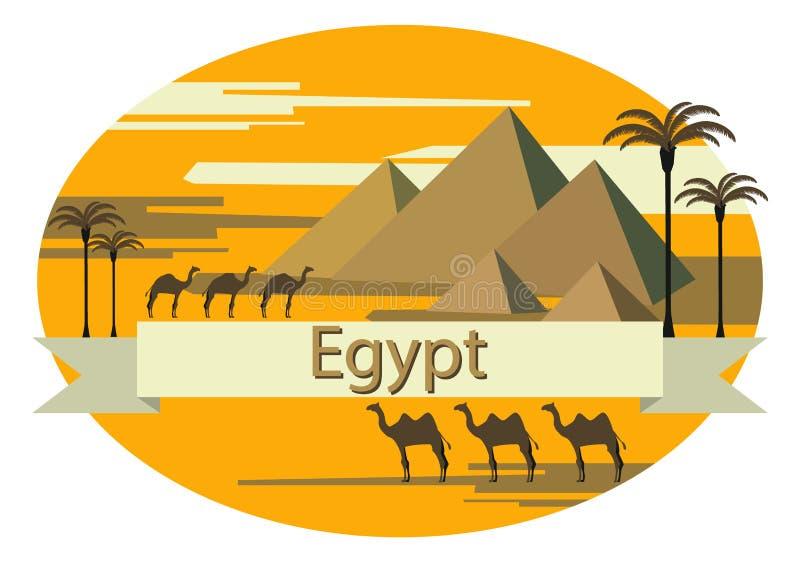 Att att besöka Egypten stock illustrationer