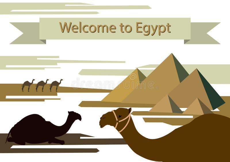 Att att besöka Egypten royaltyfri illustrationer