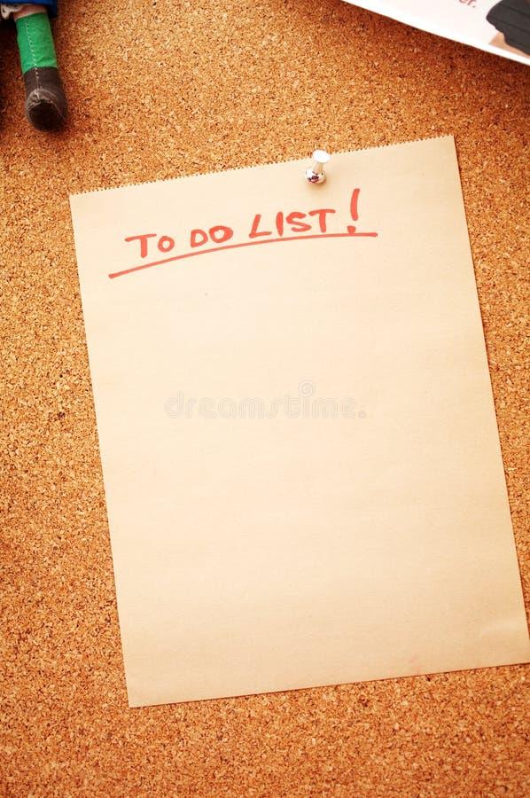 Att att göra listan med kopieringsavstånd arkivbilder