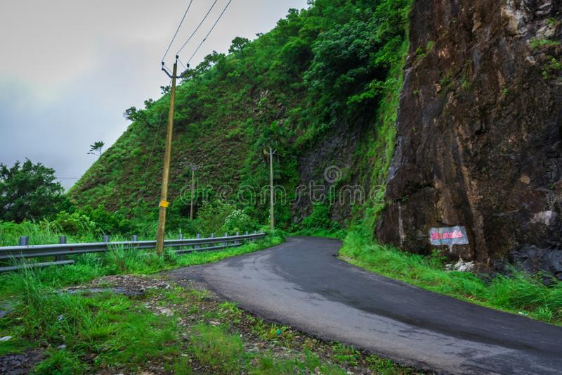 Att börja av den Vagamon kullestationen, Vagamon är en av den bästa turist- destinationen i det Idukki området Kerala, södra Indi arkivbilder