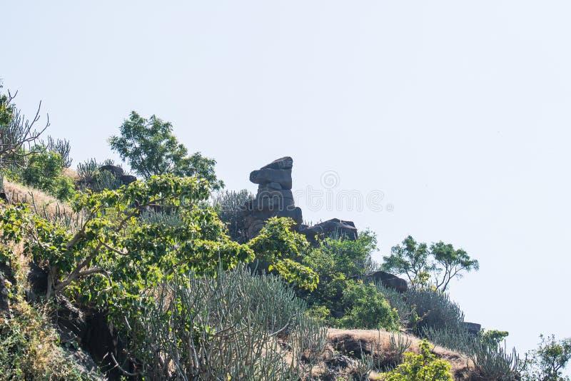 Att balansera vaggar Mandu Mandav Madhya Pradesh arkivbilder