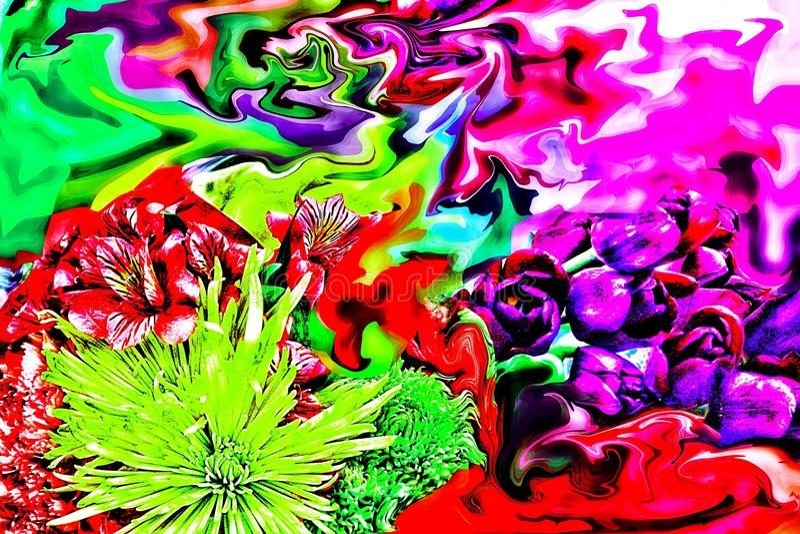 Att bedöva det abstrakta fotografiet av dagen för moder` s blommar arkivbild