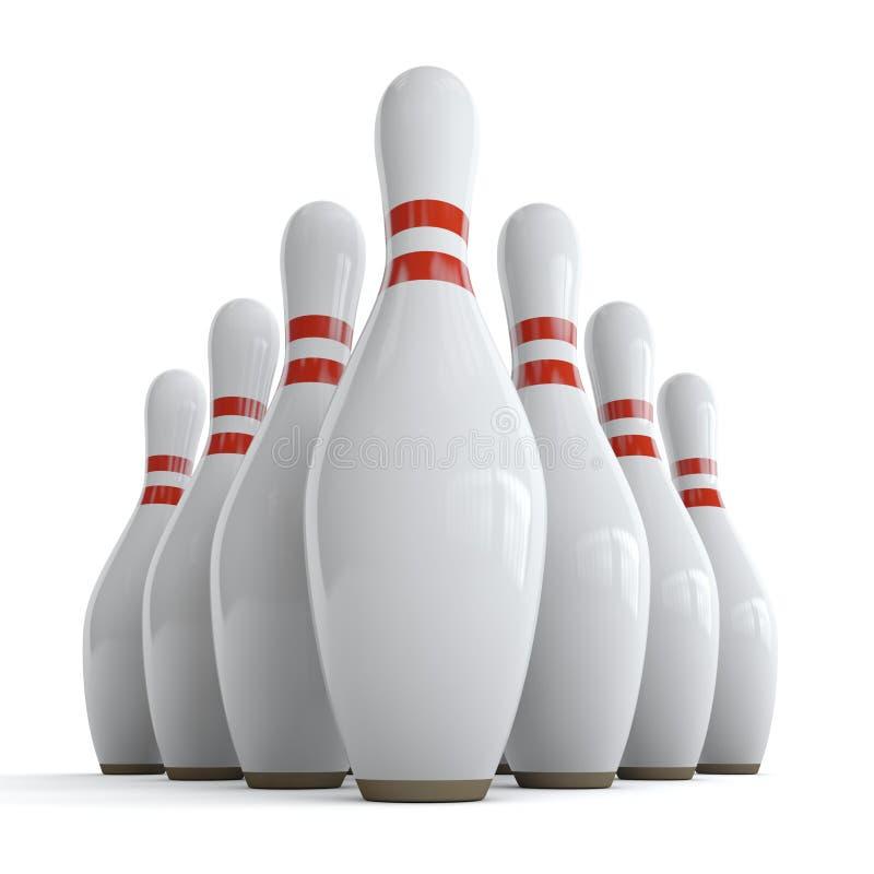 Att bowla klämmer fast stock illustrationer