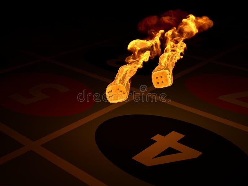 att bränna tärnar stock illustrationer