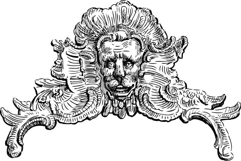 Barock dekorativ beståndsdel stock illustrationer