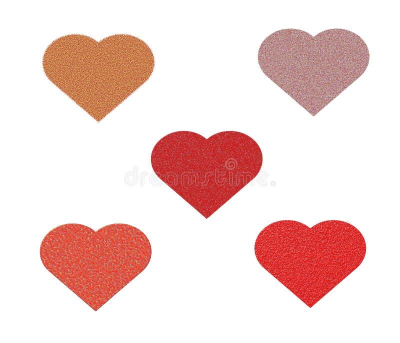 Att dra hjärta smältte vektor illustrationer