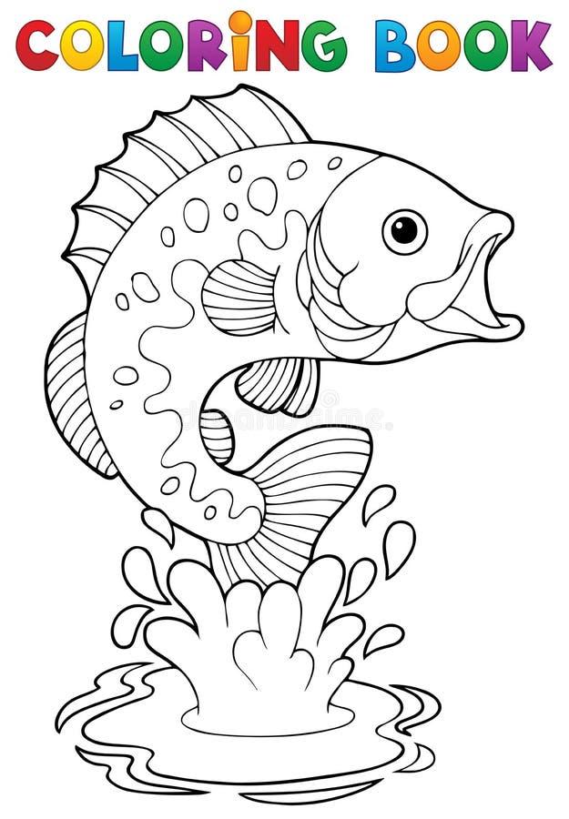 Att färga bokar sötvattensfiskar 2 vektor illustrationer