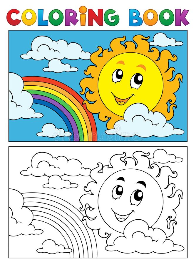 Att färga bokar sommar avbildar 1 stock illustrationer