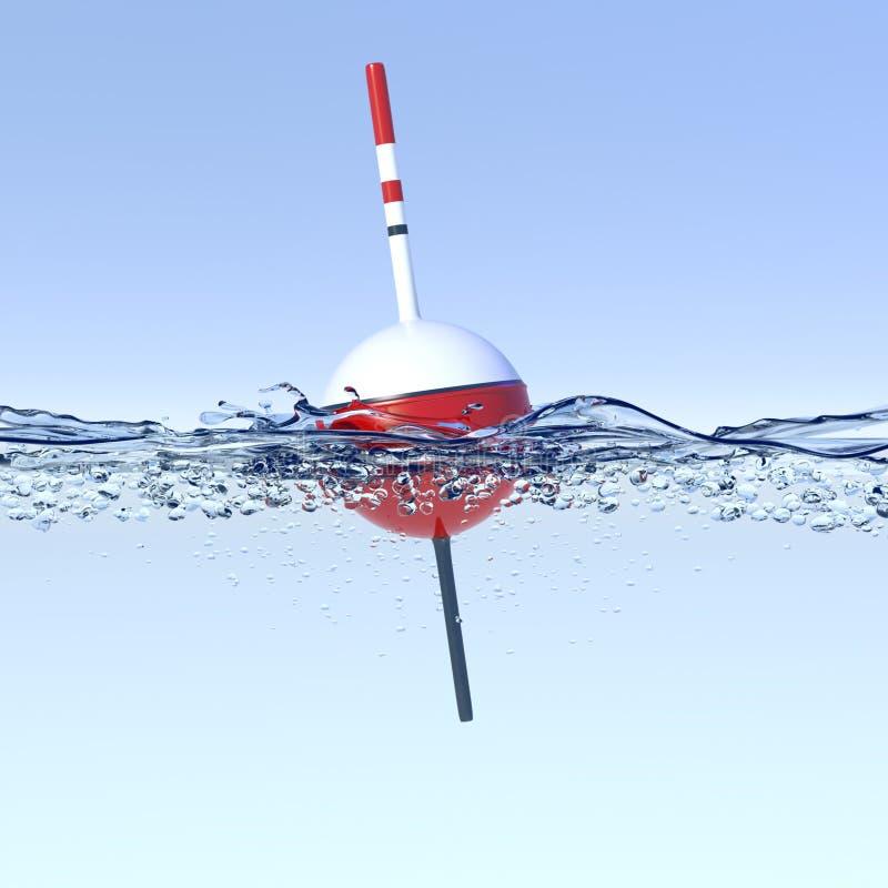 Att fiska svävar på en vit bakgrund vektor illustrationer