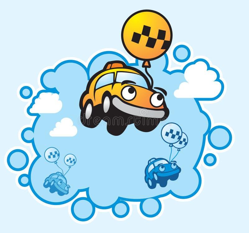att flyga taxar stock illustrationer