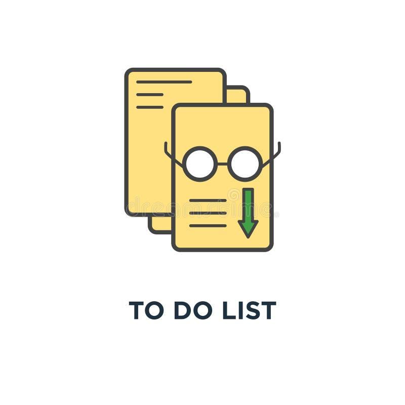 att att göra översikten för lista som (kontrollista) är infographic, av avslutade eller planlagd uppgifter, skrivplatta med blyer royaltyfri illustrationer