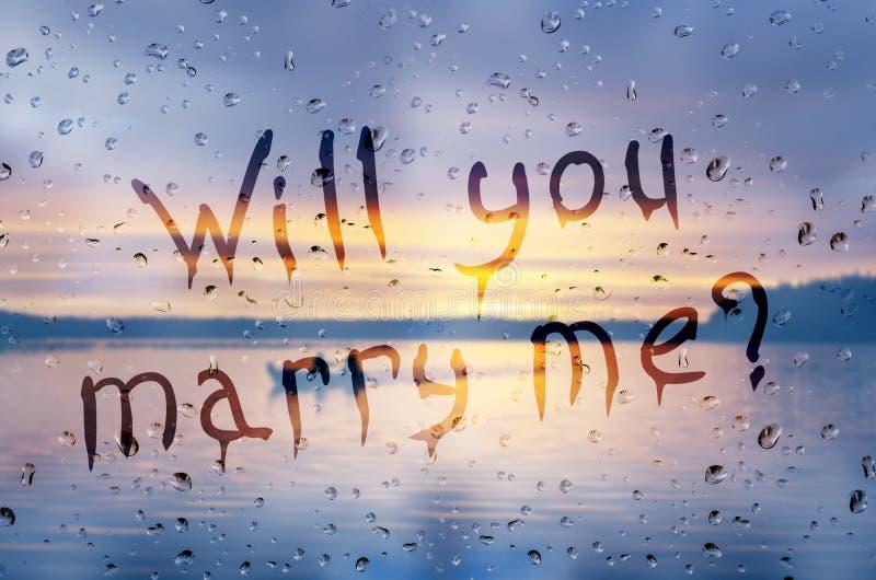 Att gifta sig du mig? arkivbild
