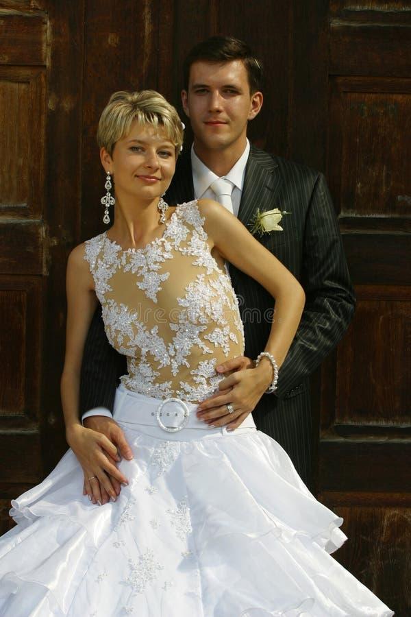 att gifta sig nytt para royaltyfri foto