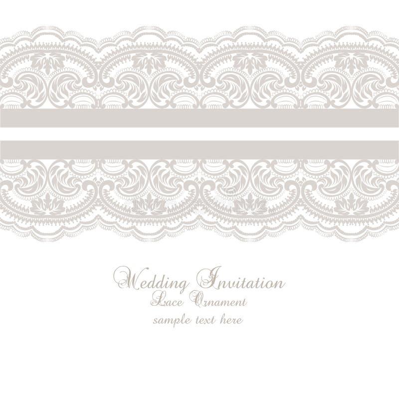 Att gifta sig snör åt inbjudankortet royaltyfri illustrationer