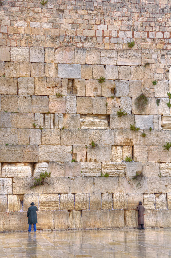 Att jämra sig vägg, Jerusalem Israel royaltyfria bilder