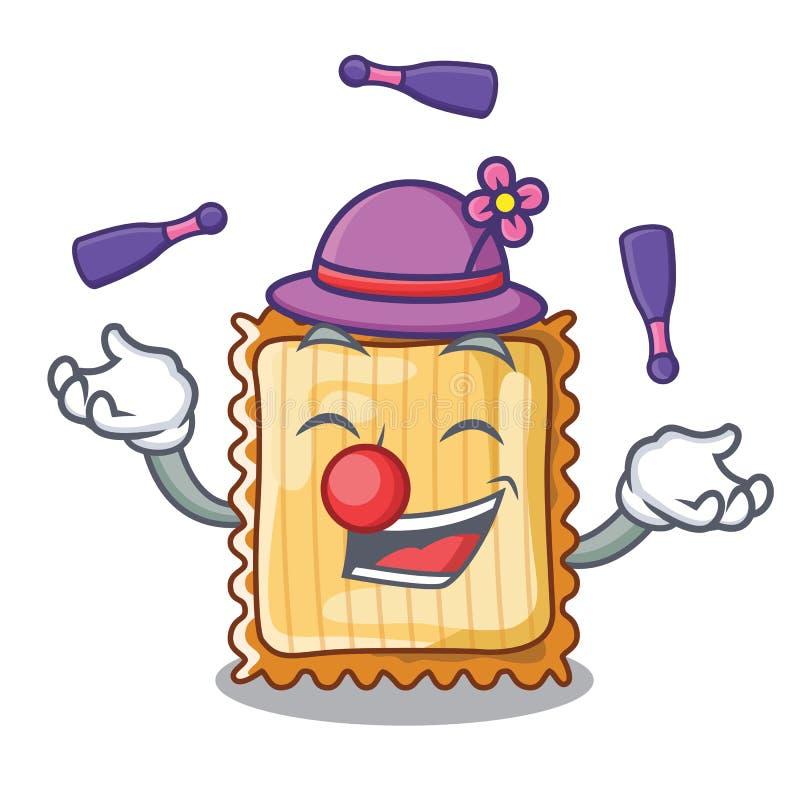 Att jonglera lasagner tjänas som i tecknad filmplattor stock illustrationer