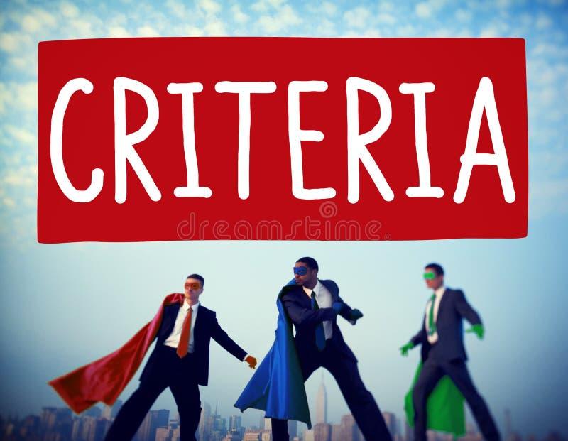 Att kontrollera för kriterier följer anvisningsuppförandebegrepp fotografering för bildbyråer