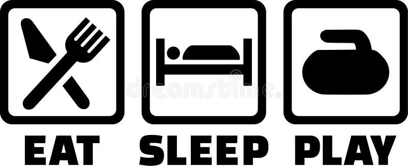 Att krulla äter sömnlek vektor illustrationer