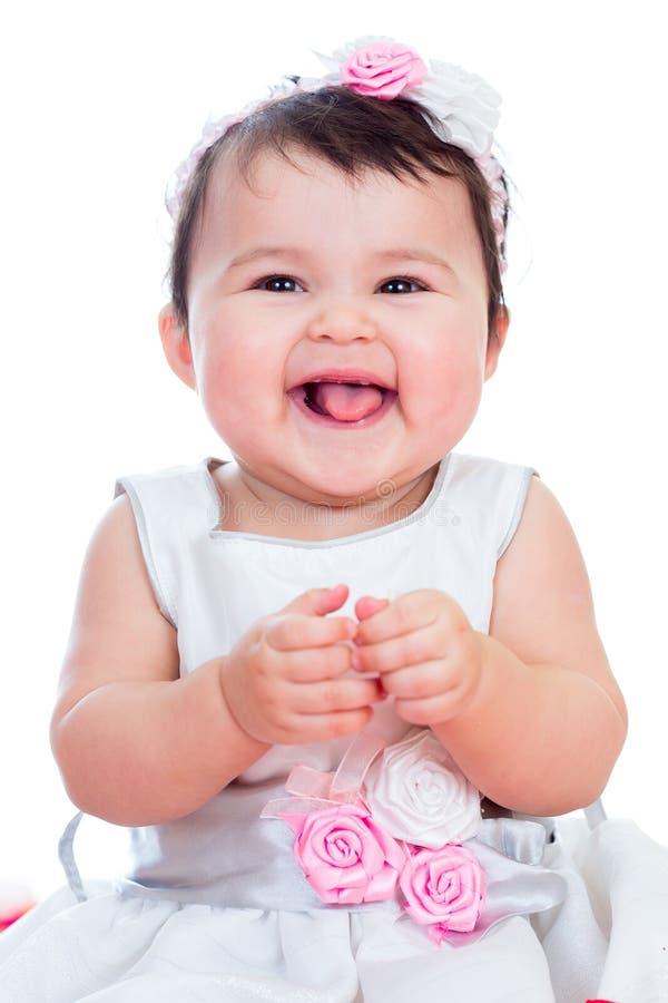 att le behandla som ett barn flickan royaltyfria bilder