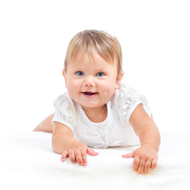 Att le behandla som ett barn litet barnflickan arkivbild