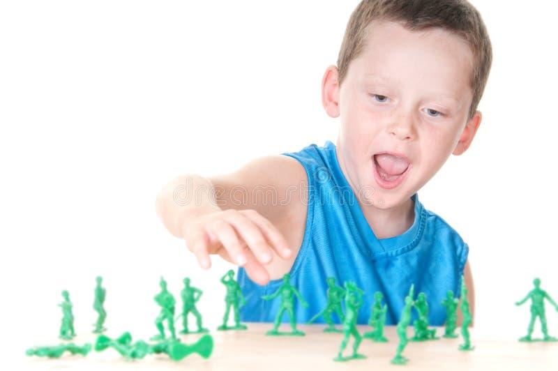 att leka för pojke kriger arkivbilder