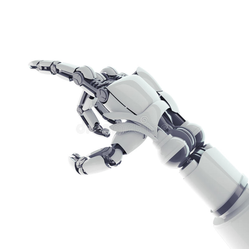 Att peka som är robotic, beväpnar stock illustrationer