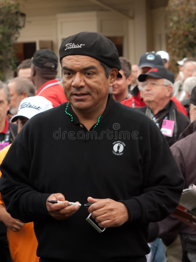 ATT Pro Am. Actor George Lopez at the AT&T Pebble Beach Pro Am stock photos
