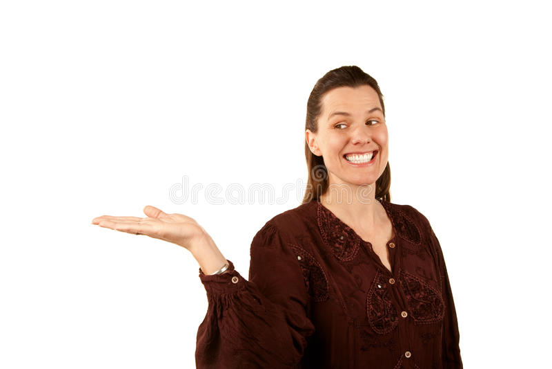 att rymma gömma i handflatan den nätt övre kvinnan arkivfoton