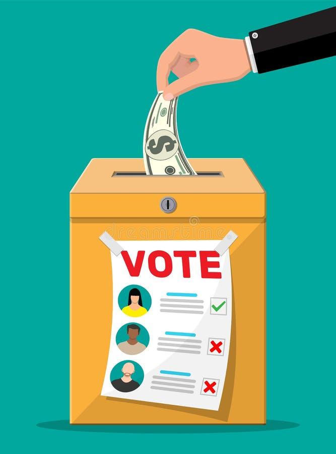 Att sälja röstar för val vektor illustrationer