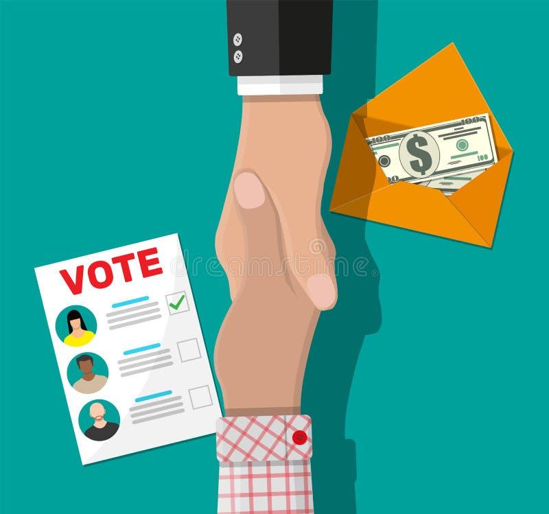 Att sälja röstar för val stock illustrationer